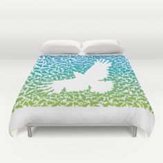 Crow from a flock of flying crows Duvet Cover by vladimirceresnak Flocking, Crow, Duvet Covers, Home, Raven, Ad Home, Crows, Homes, Haus