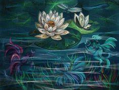 Water lily in a pond. Work Lyudmila Sashko