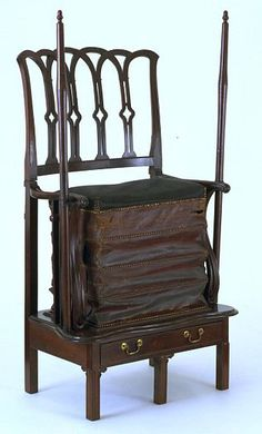 Chamber Horse was an exercise chair of the Georgian era (early to early century) with springs to bounce up and down. like riding a horse. We have one in Hamilton Georgian Furniture, Antique Furniture, Wood Furniture, Georgian Era, Victorian Era, Art Nouveau, Art Du Monde, Interesting History, Interesting Stuff