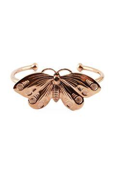 Butterfly Bracelet-- brass and rose gold