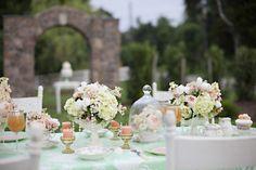 Tendência – Decoração Verde Menta e Pêssego! | Fazendo Minha Festa Casamento