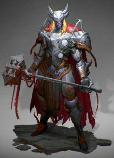 Hammer Fighter Warrior - Pathfinder PFRPG DND D&D d20 fantasy