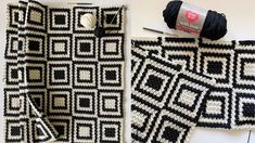 Crochet Griddle Stitch Inverse Squares Throw - YouTube Crochet Basics, Crochet Stitches, Knit Crochet, Crochet Patterns, Farm Crafts, Afghan Blanket, Gold Work, Learn To Crochet, Adult Coloring