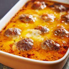 Überbackene Hackbällchen mit Tomatensauce - Ein Rezept für Prep&Cook von KRUPS