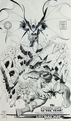 Arthur Adams Batman 194 Cover Recreation