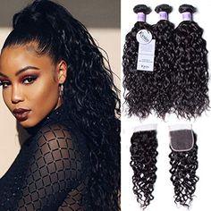 Unice Hair, Wave Hair, Water Waves, Virgin Hair, Hair Beauty, Hairstyles, Amazon, Haircuts, Hairdos