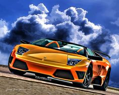Supercar Print  Lamborghini Murciélago Roadster  by ArtWorkz, $20.00