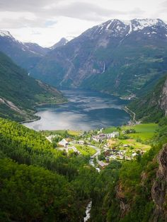 View of the majestic Geirangerfjord, Norway.