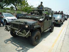 Ecuadorian Army multipurpose vehicles - Agrale Marrau jeep and and GM pickup truck