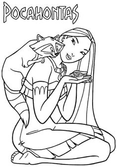 Pocahontas Relaxed With Meeko