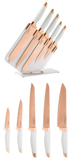 I'm in love with anything rose gold for my home and this set of knives is definitely being added to my kitchen!