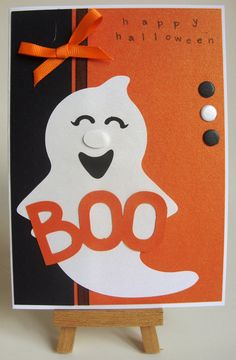 Handmade Personalised Happy Halloween Greetings Card £3.50 via Etsy