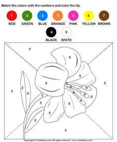 Number Coloring Sheets for Kindergarten | preschool math concept colouring pages