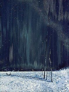 "the-paintrist: "" fleurdulys: "" Frank Johnston - A Northern Night - 1917 "" Frank Johnston (June 1888 – July was a Canadian artist associated with the Group of Seven. Tom Thomson, Canadian Painters, Canadian Artists, Nocturne, Group Of Seven Paintings, Northern Nights, Emily Carr, Pierre Auguste Renoir, Henri Matisse"