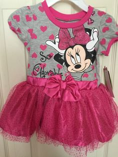 Minnie Mouse Dress Hot Pink 12 Month Girls Infant So Adorable Tutu Style Disney | eBay