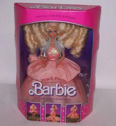 Peach Pretty Barbie Doll  Mattel 4870 NRFB Vintage 1989 #Mattel #DollswithClothingAccessories