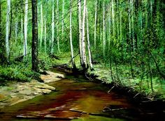 (North Korea) Schmidt birch forest by Oh Young-u (1955-  )
