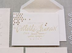 beautiful calligraphy + design by Erica Loesing | Melissa Schollaert