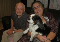 """Here is MICKEY ROONEY, the legendary actor, with SIR DIGBY, a Cavalier King Charles Spaniel, and me. You remember Mickey as Andy Hardy and in 375 films--and this Christmas as the voice of Santa in the holiday special, """"Santa Claus is Comin' to Town.""""  Digby lives with me now.  At 92-years-old, Mickey found the little dog was getting underfoot.  Hollywood is another world away from the hills of New Hampshire, but Digby loves it--and we love him. Read about him on…"""