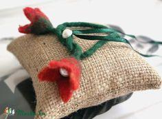 Meska - Vintage tulipános gyűrűpárna Aggies kézművestől Burlap, Reusable Tote Bags, Vintage, Hessian Fabric, Jute