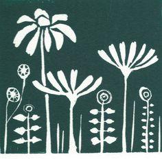 Linocut Prints, Art Prints, Block Prints, Joan Miro Paintings, Lino Art, Linoprint, Simple Prints, Chalk Pastels, Summer Flowers