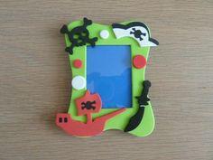 foam fotolijst versieren met foam stickers