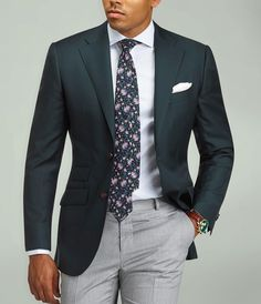 Add some flair to your business attire. Simply by complimenting your white shirt with a floral tie, your outfit will go from good to great. www.Grandfrank.com