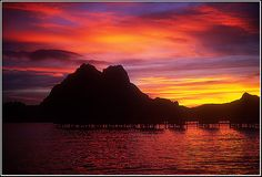 beautiful sunset in Bora Bora