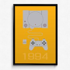 PlayStation Inspired Minimalist PlayStation 1 by PrinsDesignStudio