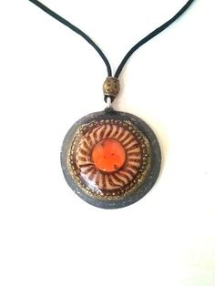 Shungit Pendant Magic-Magic-Eye organite by ORGONITHEKA on Etsy