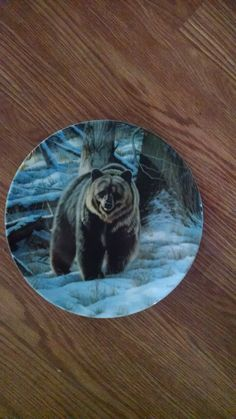 The Grizzly Bear 8 1/2 Inch Collector Plate