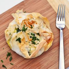 "Jamie Oliver's spinach and feta filo pie from ""Meals in Minutes"" 