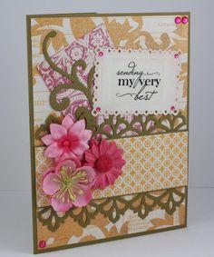 Best Wishes Card  Handmade Card  Thinking of by CardsbyGayelynn, $6.25