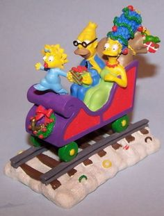 The Simpsons Homer All Aboard for Christmas Holidays Express Statue NIB #Hamilton