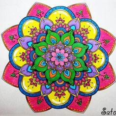 Mandala Carpe Diem #mandala #carpediem #adultcoloringbook #livroantiinsônia #thecantsleepcolouringbook #beautiful #awesome #arttherapy…