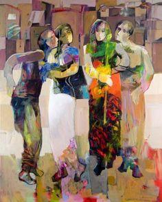 Calm Whispers60in x 48inOriginal Painting on Canvas     Hessam Abrishami