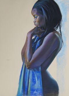 "Saatchi Online Artist: Alvin Pettit; Pastel, 2013, Drawing ""A Purple State of Mind"""