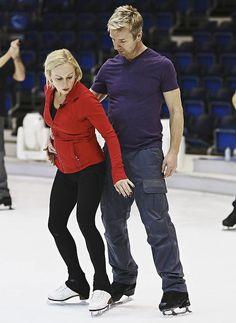 Jayne & Chris at rehearsals