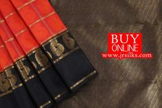 Hand-loom Kanchipuram Pure Silk Pure Jari Saree with Traditional Border,Embossed Body design with jari checks. Blouse is black with Rich Jari Checks Note:!) The color of the product in the above image may vary slightly than the actual productdue to various color brightness setti
