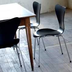 The chair is ideally suited to the human body, its back has a comfortable, supportive flexibility.  The ingenious design incorporates three different bends in one piece of plywood, simply by narrowing the chair back.
