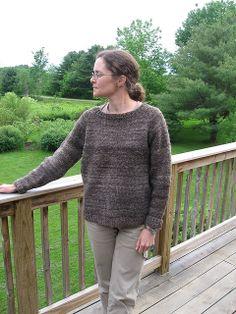 elizabeth zimmerman's seamless raglan sweater, any gauge, any size.