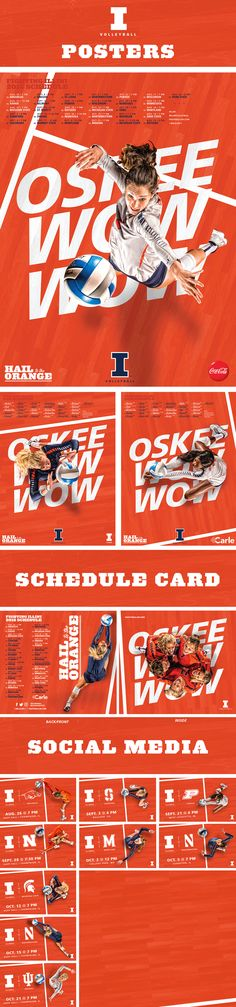 2016-17 Illini Volleyball Creative on Behance