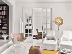 A fashionable home in Barcelona (Daily Dream Decor) Danish House, Dutch House, Recycled Furniture, Handmade Furniture, Home Living, Living Area, Living Rooms, Riverside House, French Country House