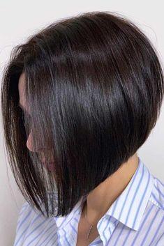 Brunette Bob Haircut Ideas For Summer 2018 - Top-Trends Angled Bob Hairstyles, Best Bob Haircuts, Bob Hairstyles For Fine Hair, Haircut For Thick Hair, Hairstyles Haircuts, Pixie Haircuts, Layered Haircuts, Braided Hairstyles, Wedding Hairstyles