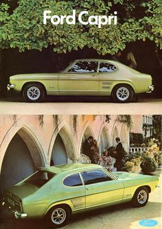Ford Capri XL, UK brochure 1969 - My old classic car collection Ford Capri, Mustang, Mercury Capri, Cars Uk, Old Classic Cars, Weird Cars, Top Cars, Car Ford, Ford Motor Company