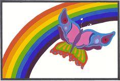1A 1B regenboogkleuren plakkaatverf