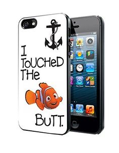 @ALL CASE Cool Protective Case for iPod touch 6th, Finding Nemo I Touched The Butt Quote Best Plastic ,Phonecase and Dust Plug