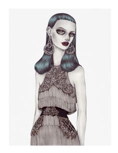 Illustration.Files: Balmain Pre-Fall 2016 Fashion Illustration by Nicolas Roa