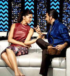 Deepika padukone and ranveer Singh promoting ram leela