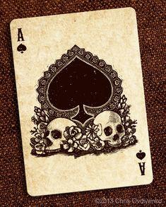 Ace card: kickstarter: bicycle calaveras playing cards by chris. Vanitas, Tarot, Ace Card, Arte Tribal, Bicycle Playing Cards, Playing Cards Art, Ace Of Spades, Skull And Bones, Day Of The Dead